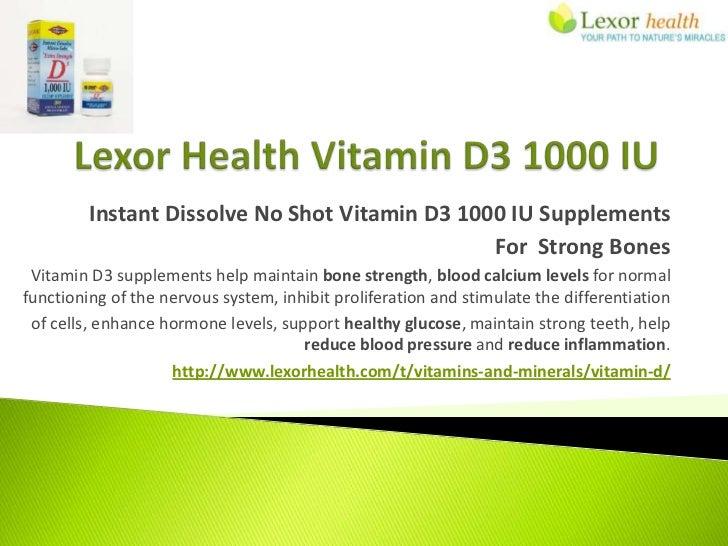 Instant Dissolve No Shot Vitamin D3 1000 IU Supplements                                                For Strong Bones Vi...