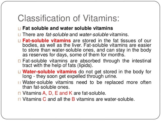 fat and water soluble vitamins