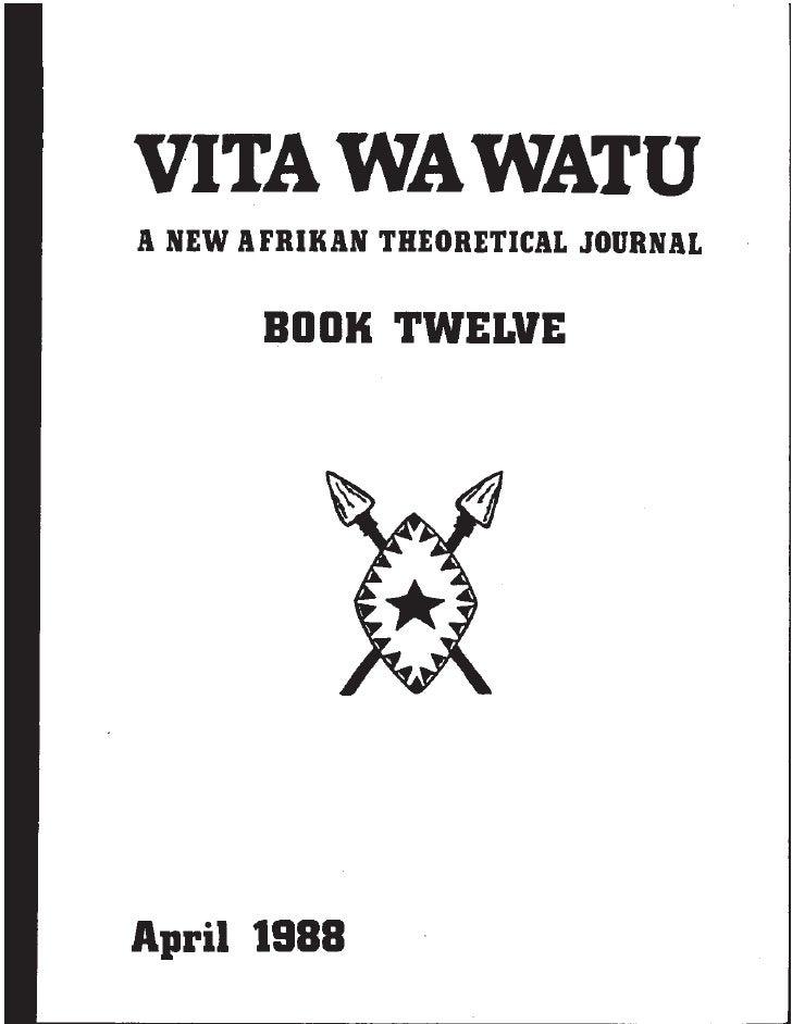 VWW/SSP                            - 1 -                          April 1988Spear & Shield Publications • 5206 S. Harper •...