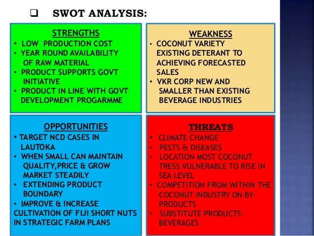 "fiji water swot analysis The ability of pet to be recycled is important in fiji water""s life cycle analysis  indeed, there are a variety of post-consumer uses for pet, ranging from uses in."