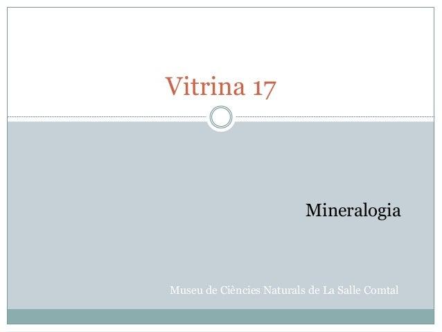 Vitrina 17 Museu de Ciències Naturals de La Salle Comtal Mineralogia