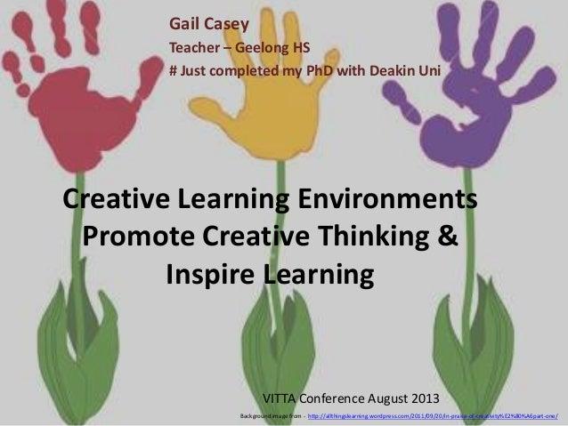 Vitta13 creative learning environments gcasey