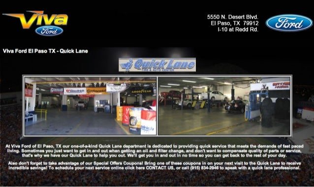 Viva Ford Quick Lane Department El Paso Texas