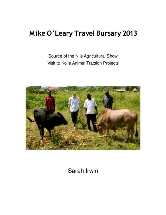 Mike O'Leary Travel Bursary Report (2014) - Animal Traction Report Uganda
