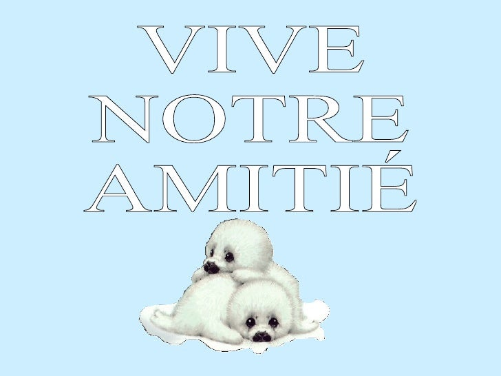 VIVE NOTRE  AMITIÉ