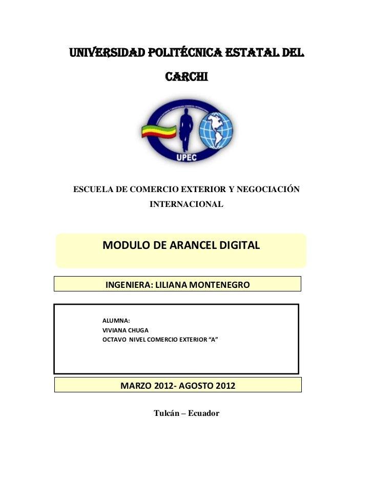 UNIVERSIDAD POLITÉCNICA ESTATAL DEL                       CARCHIESCUELA DE COMERCIO EXTERIOR Y NEGOCIACIÓN                ...