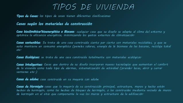 Informacion sobre la vivienda - Tipos de materiales de construccion ...