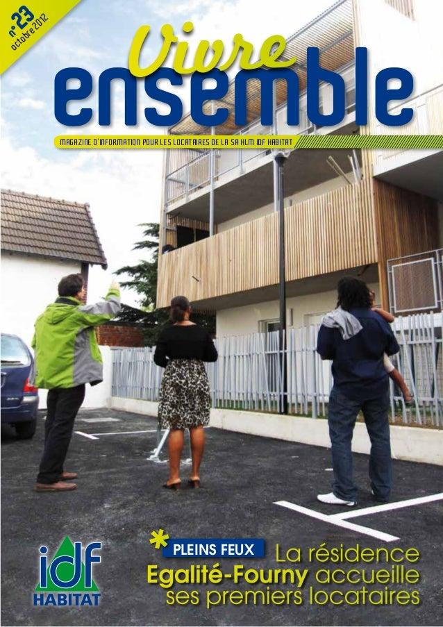 Vivre  2b3e 2012n° r              ensemble     tooc              MAGAZINE D'INFORMATION POUR LES LOCATAIRES DE LA SA HLM I...