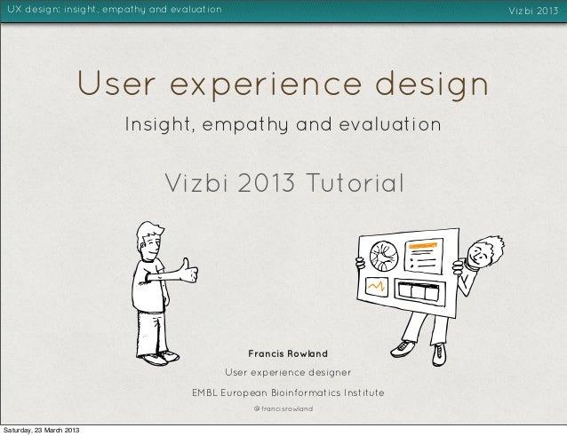 VIZBI 2013 - UX design tutorial