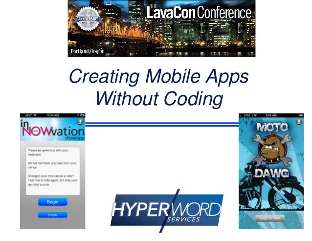 Creating Mobile Aps without Coding