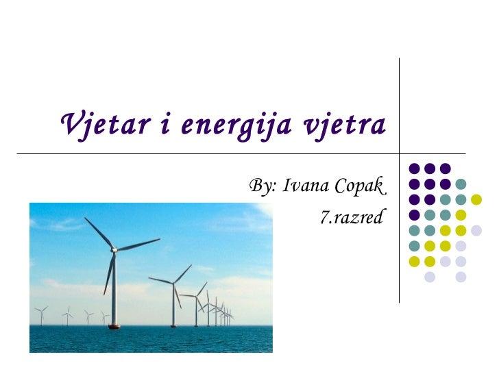 Vjetar i energija vjetra