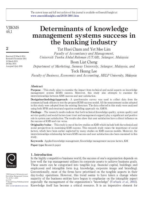http://image.slidesharecdn.com/vjikms0320140021-1-160217183437/95/determinants-of-knowledge-management-systems-success-in-the-banking-industry-1-638.jpg