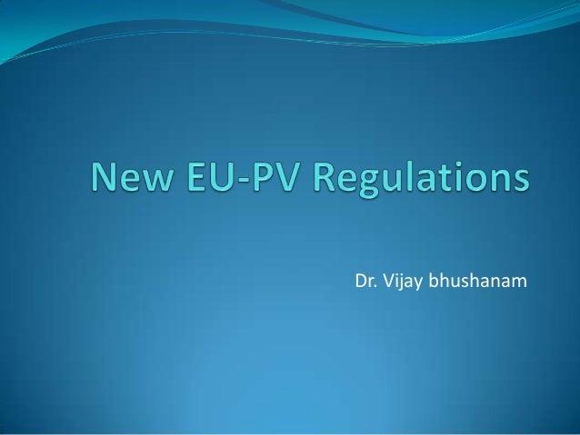 New EU PV regulations