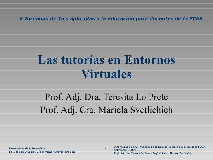 V Jornada - Tutorías virtuales