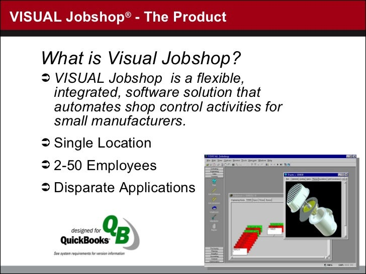 VISUAL Jobshop ®  - The Product <ul><li>What is Visual Jobshop? </li></ul><ul><li>VISUAL Jobshop  is a flexible, integrate...