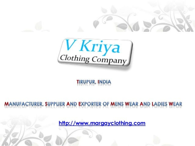 Mens Clothing Manufacturer from India