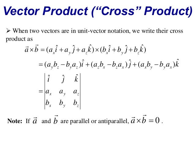 Parallel antiparallel vectors