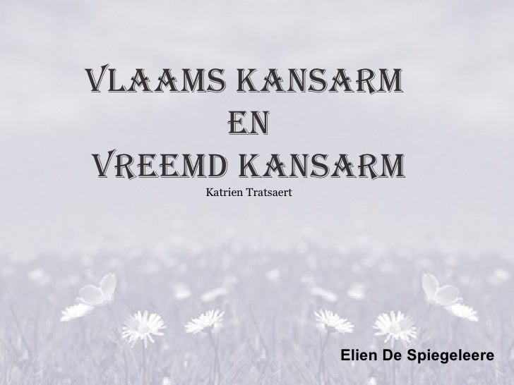 Vlaams Kansarm En vreemd kansarm