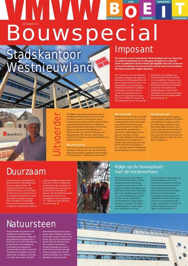 Stadskantoor Westnieuwland Vlaardingen Bouwspecial september 2013
