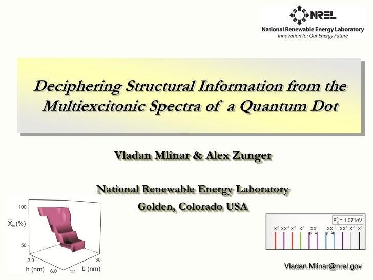 Vladan Mlinar 2009 Materials Research Society Spring Meeting
