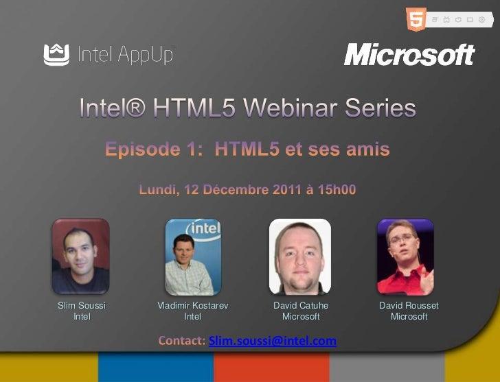 Intel Microsoft Webinar HTML5: AppUp Presenttaion