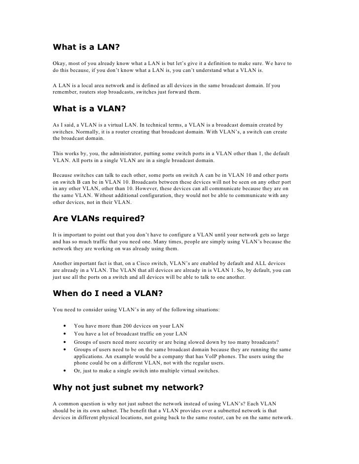 What is a LAN? Okay, most of you already know what a LAN is but let's give it a definition to make sure. We have to do thi...