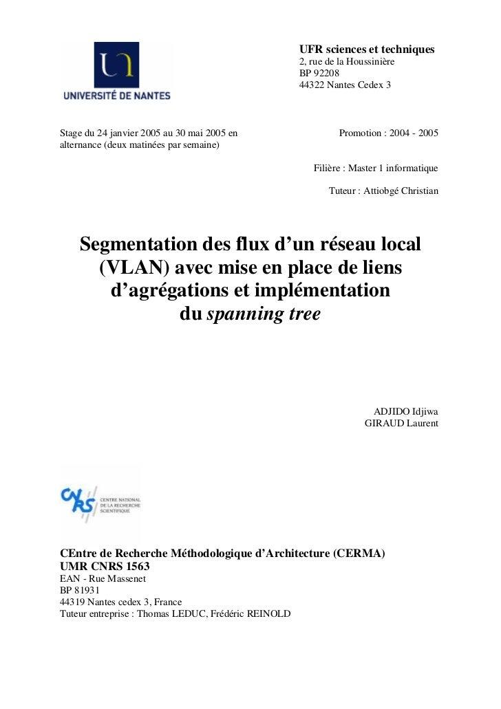 UFR sciences et techniques                                                     2, rue de la Houssinière                   ...