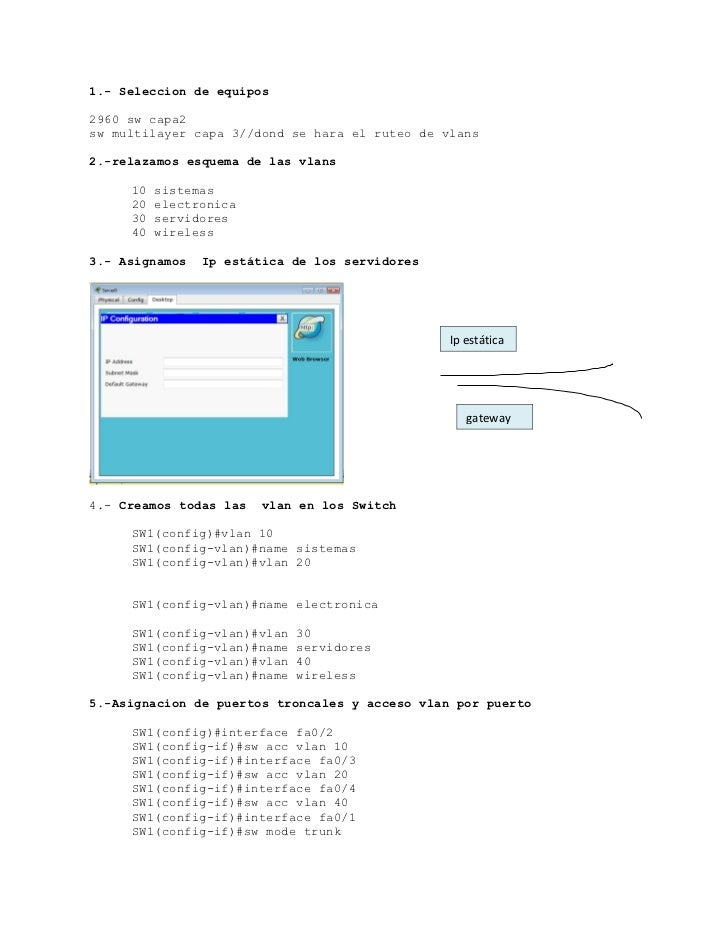 Vlans con  dhcp