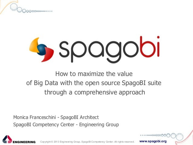 www.spagobi.orgCopyright © 2013 Engineering Group, SpagoBI Competency Center. All rights reserved. How to maximize the val...