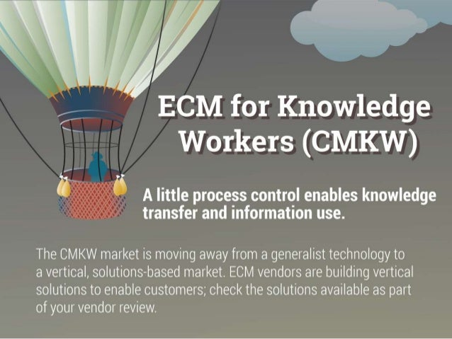 The CMKW market is moving away from a generalist technology to a vertical, solutions-based market. ECM vendors are buildin...