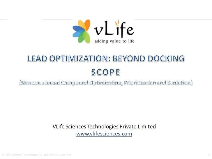 VLife SCOPE for Lead Optimization