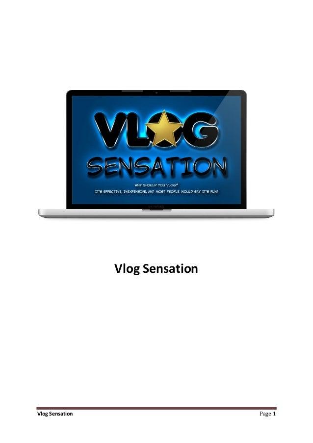 Vlog SensationVlog Sensation                    Page 1