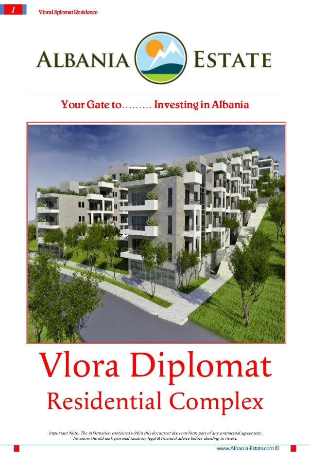 1   VloraDiplomat Residence             Your Gate to……… Investing in Albania    Vlora Diplomat       Residential Complex  ...