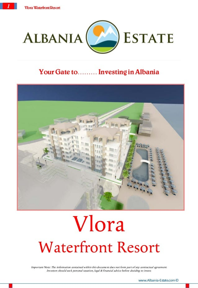 1   Vlora Waterfront Resort              Your Gate to……… Investing in Albania                                          Vlo...