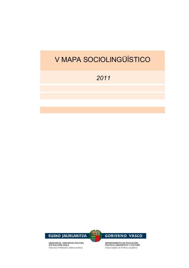2011 V MAPA SOCIOLINGÜÍSTICO