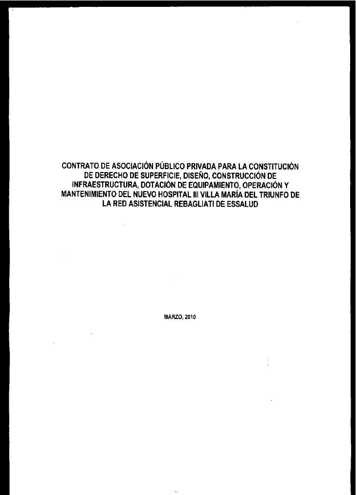 Contrato de APP para la Constitución de Derecho de Superncie, Diseño, Construcción de Infraestructura. Dotación de        ...