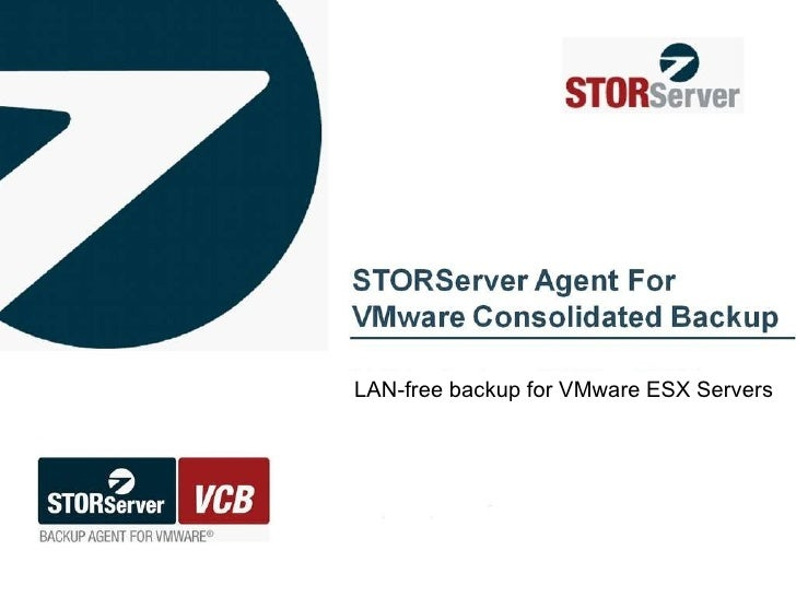 LAN-free backup for VMware ESX Servers