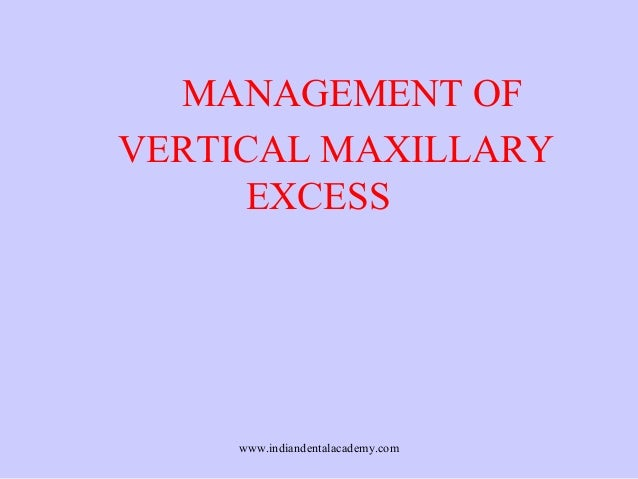 MANAGEMENT OF VERTICAL MAXILLARY EXCESS  www.indiandentalacademy.com