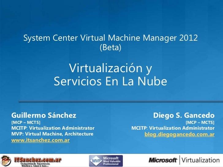 System Center Virtual Machine Manager 2012                        (Beta)                   Virtualización y               ...
