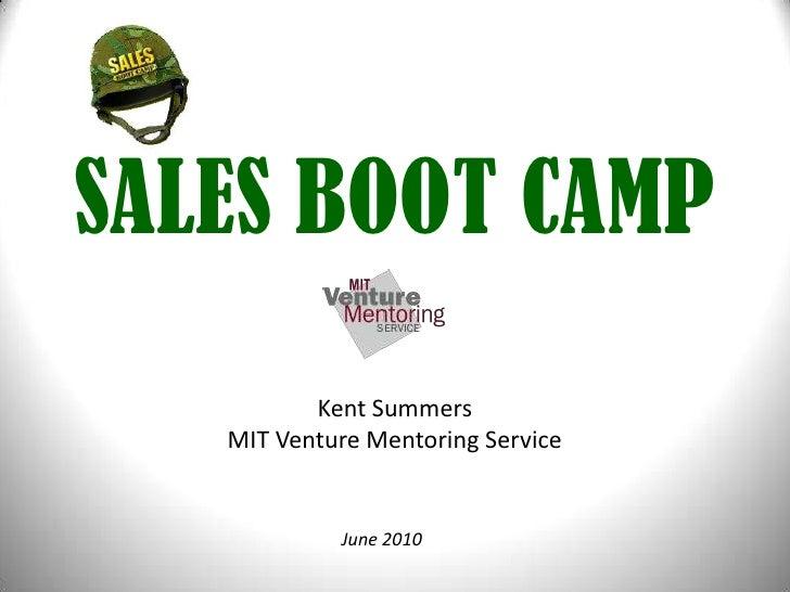 MIT Sales Bootcamp II