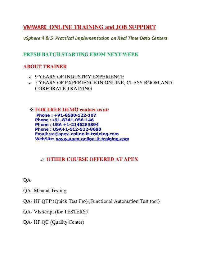 Vmware  online training from India Hyderabad