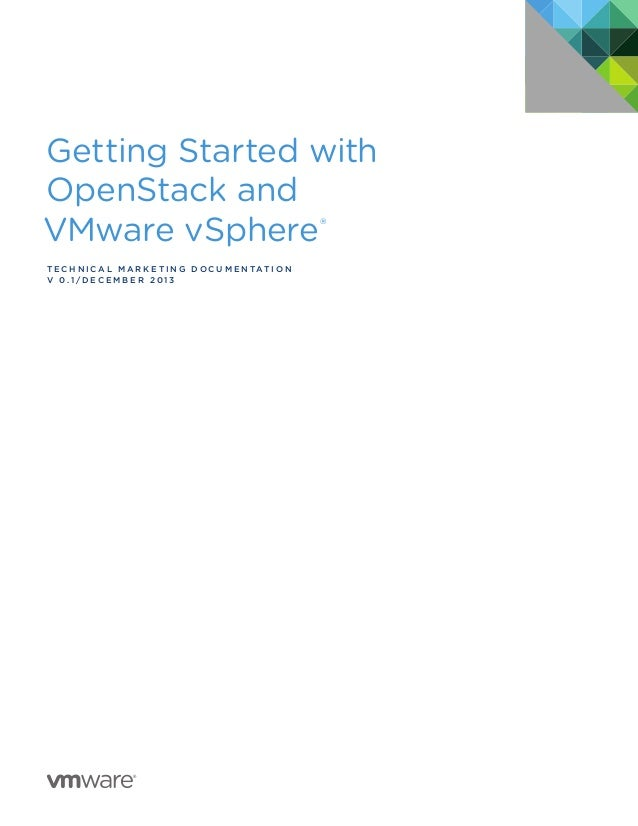Getting Started with OpenStack and VMware vSphere