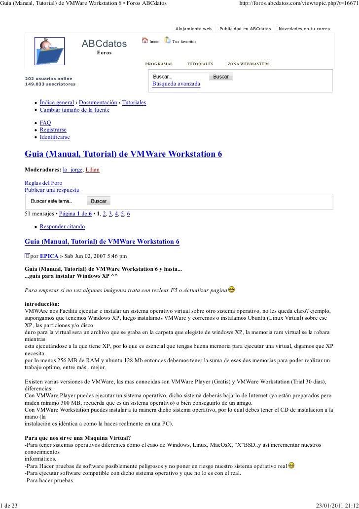 VMWare Tutorials-01-guia _(manual, tutorial_) de vmware workstation 6 • foros abcdatos