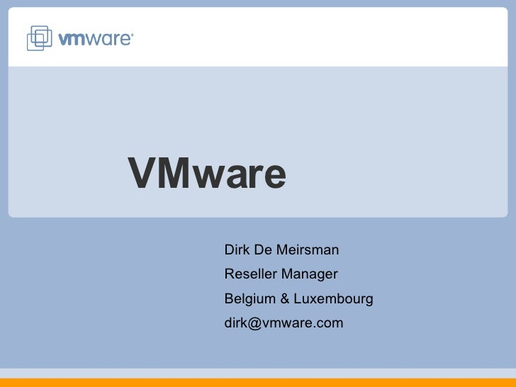 VMware Virtualization  27 09 07