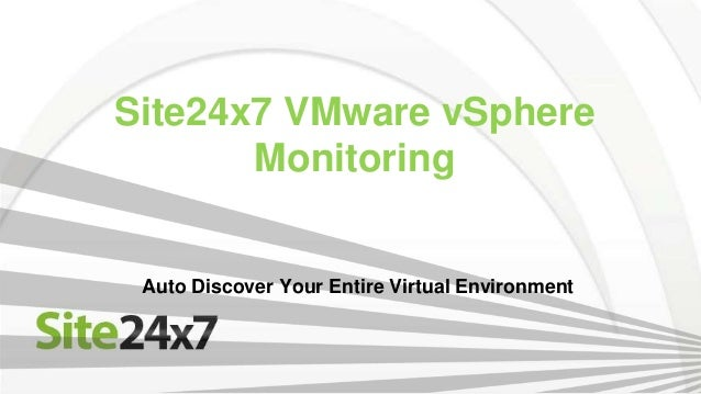 VMware Monitoring - Discover And Monitor Your Virtual Environment