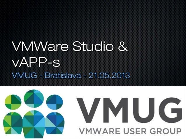 VMware Studio & vAPP-s
