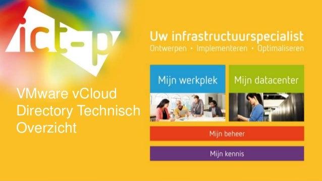 VMware vCloud  Directory Technisch  Overzicht