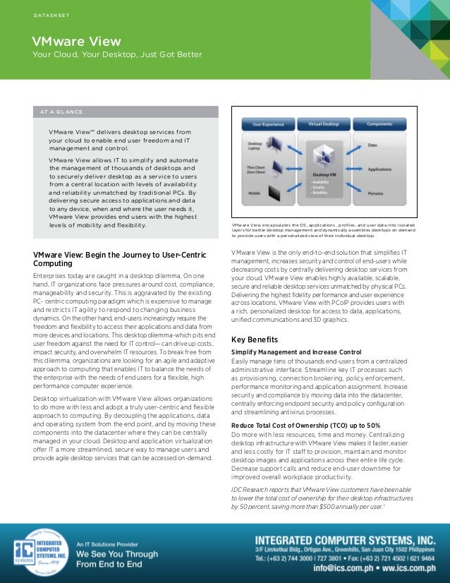VMware View Data Sheet