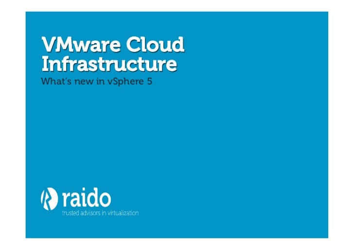 VMware vSphere 5 seminar