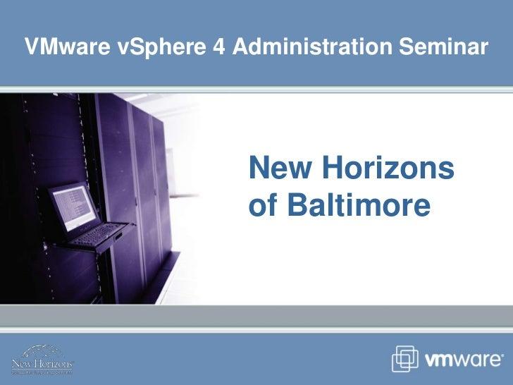 VMware vSphere 4 seminar presentation